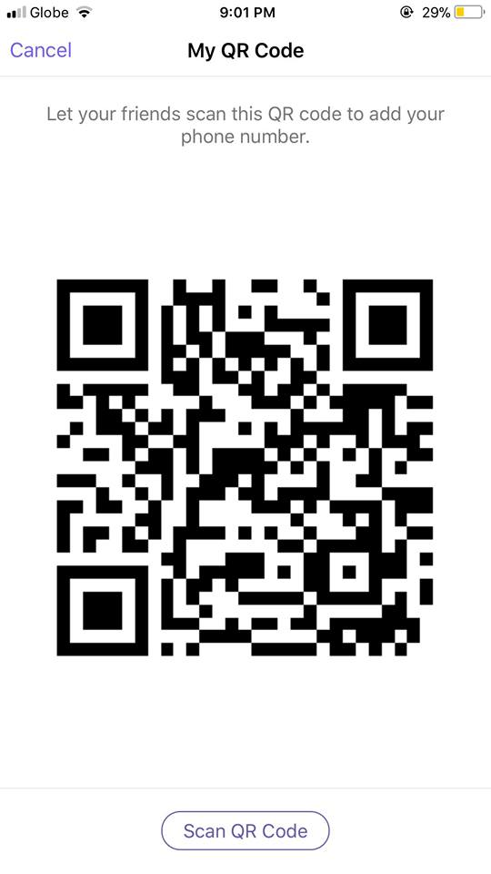 Scan QR Code on iOS by Viber from UIGarage