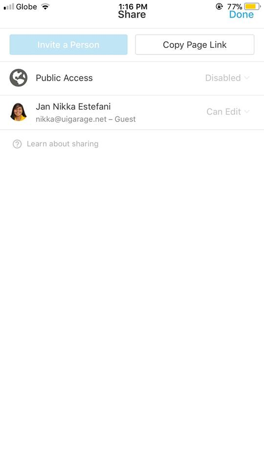 Share on iOS by Notion
