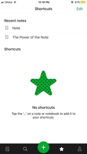 Shortcuts on iOS by Evernote from UIGarage