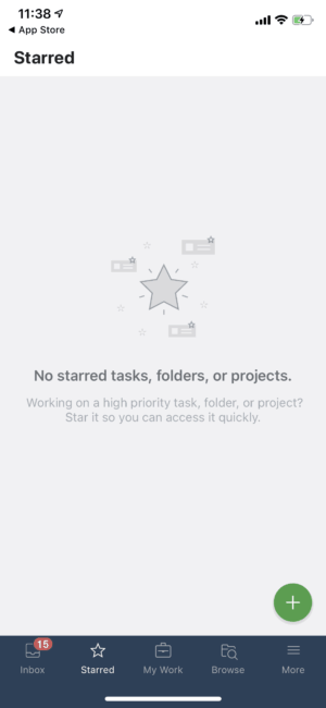 Starred on iOS by Wrike from UIGarage