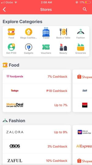 Stores on iOS by Shopback from UIGarage