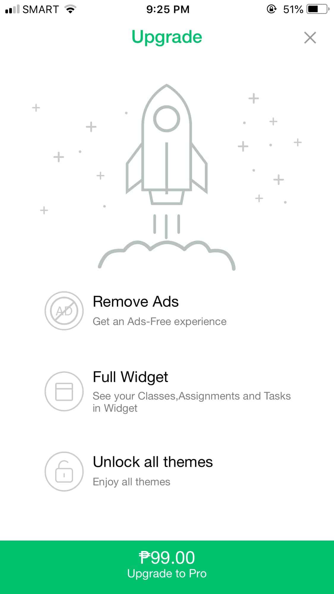 Upgrade on iOS by Pocket Schedule from UIGarage