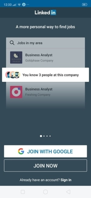 Walkthrough on Android by Linked In from UIGarage