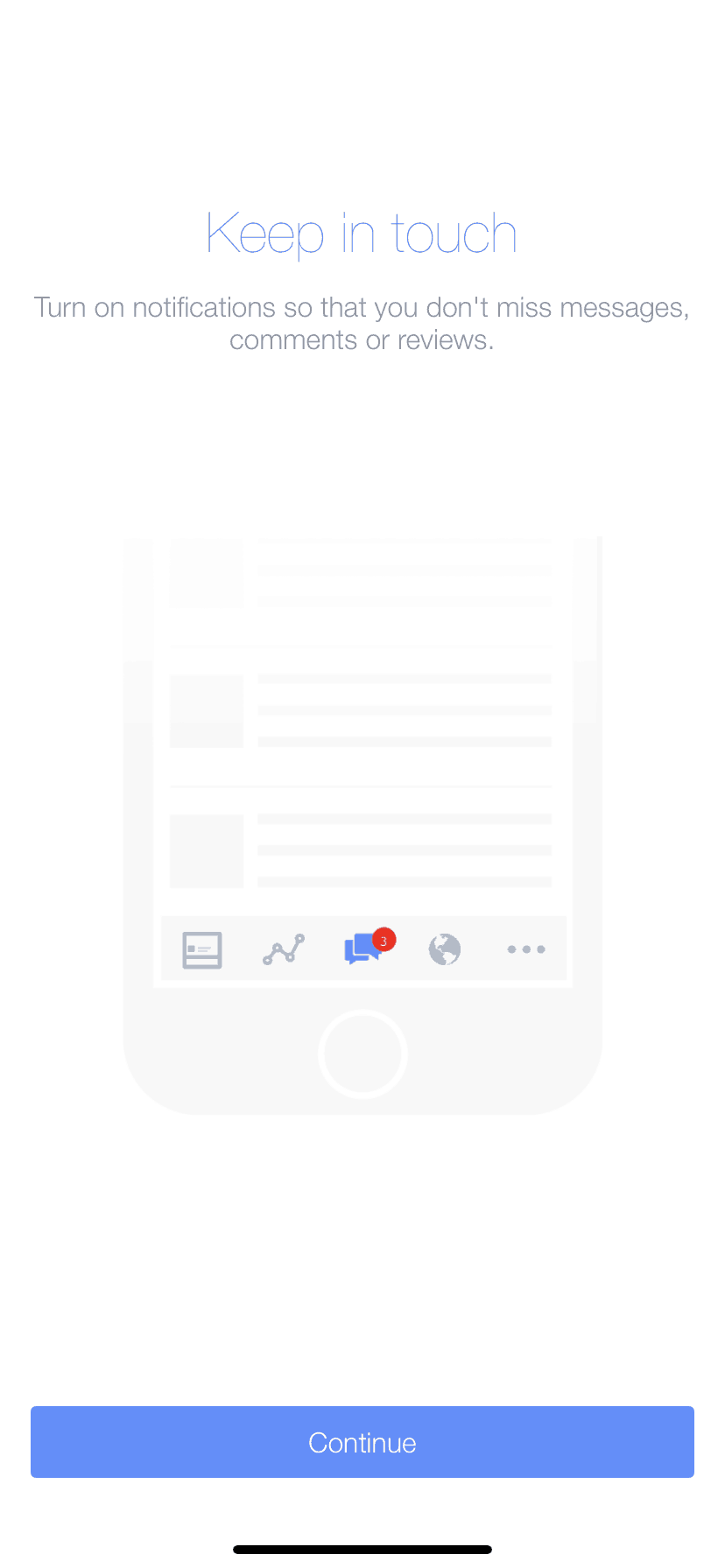Walkthrough Process on iOS by Facebook Page from UIGarage