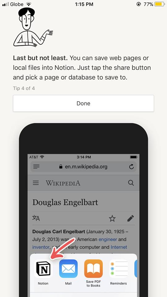 Walkthrough on iOS by Notion from UIGarage