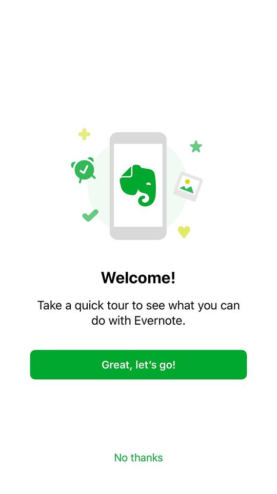 Walkthrough on iOS by Evernote from UIGarage