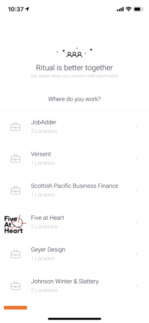 Workplace on iOS by Ritual from UIGarage