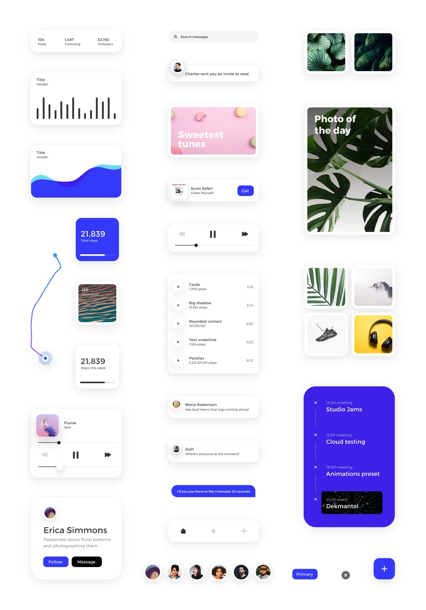 Card - Free UI Kit For InVision Studio - Download Free UI Kit