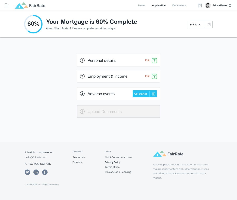 FairRate - Finance Web App UI Kit from UIGarage