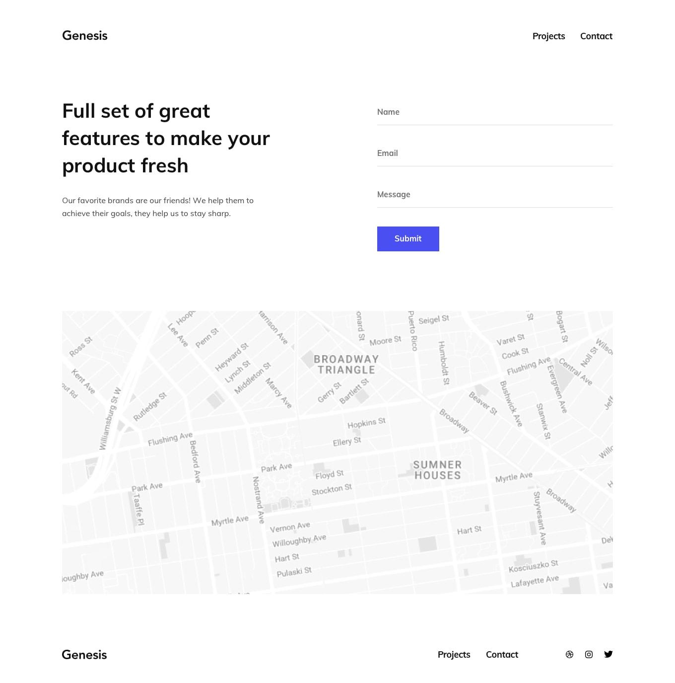 Genesis Portfolio Template from UIGarage