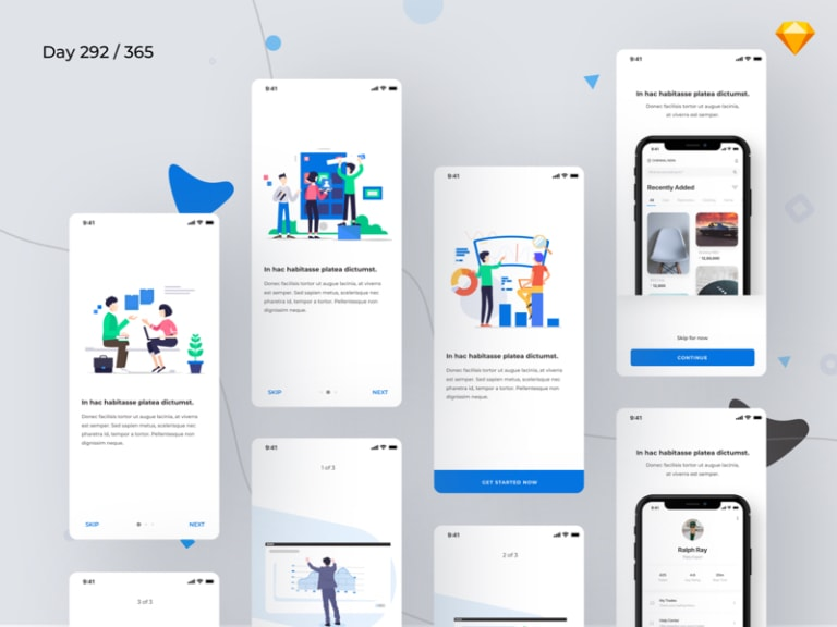 Mobile App Onboarding Screens from UIGarage