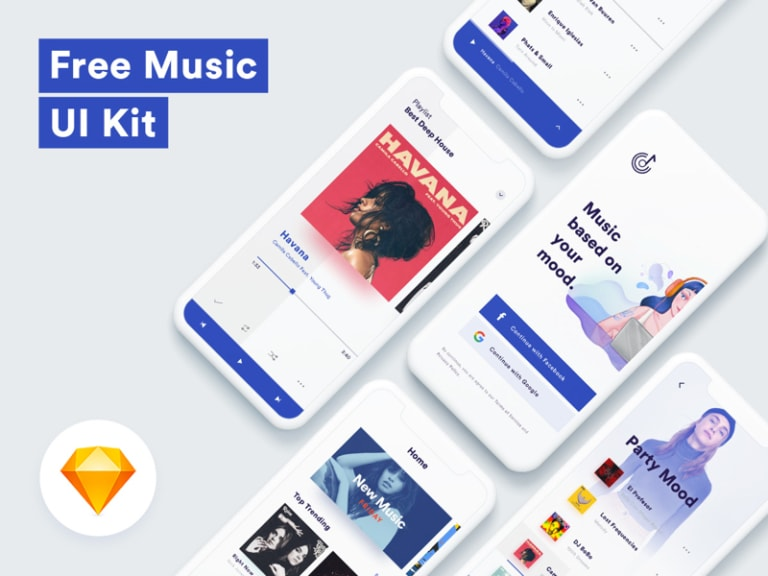 Music App UI Kit from UIGarage