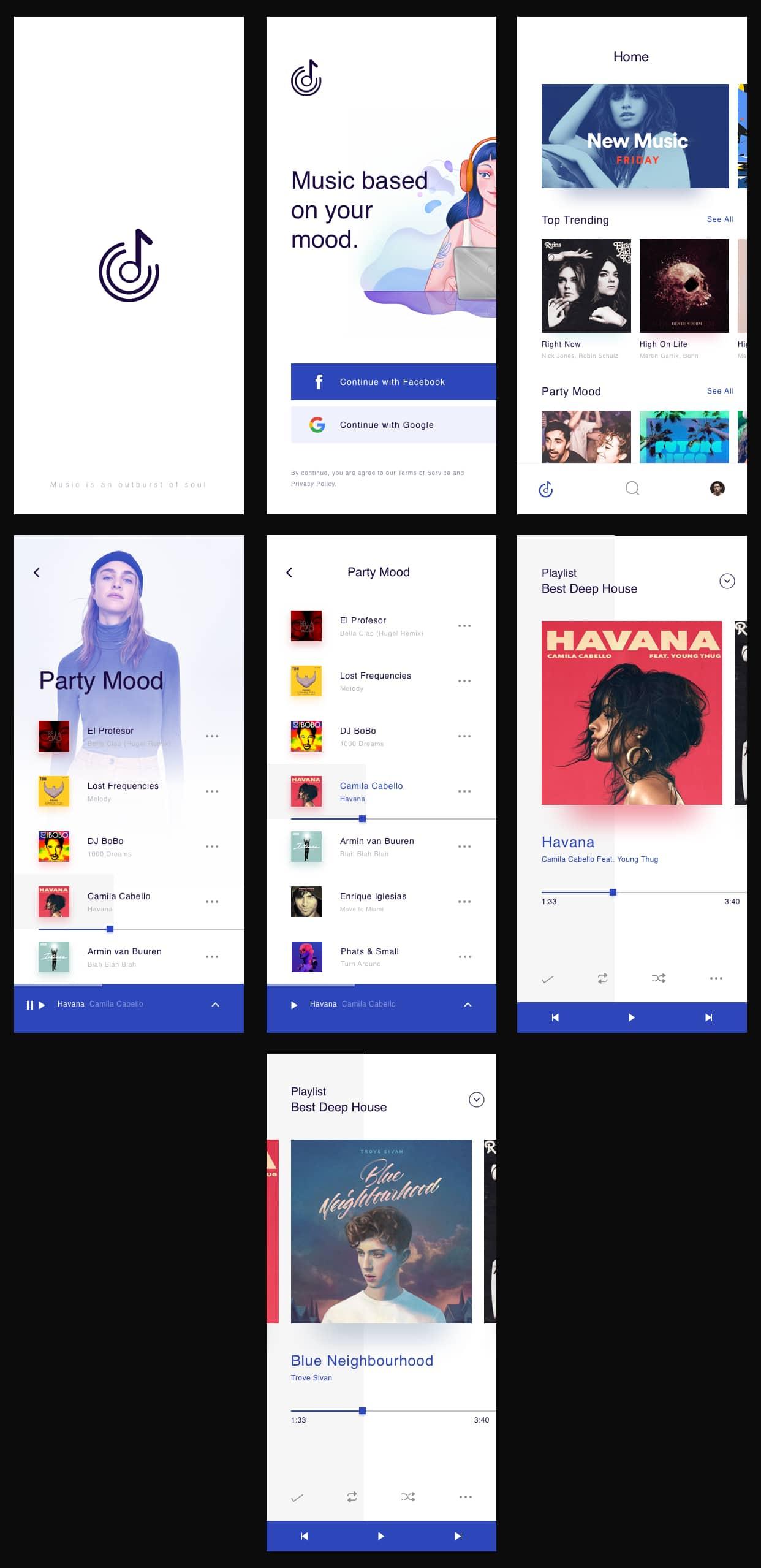 Music App UI Kit from UIGarage