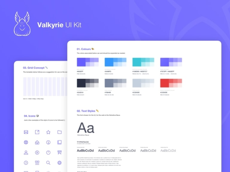 Valkyrie UI Kit from UIGarage
