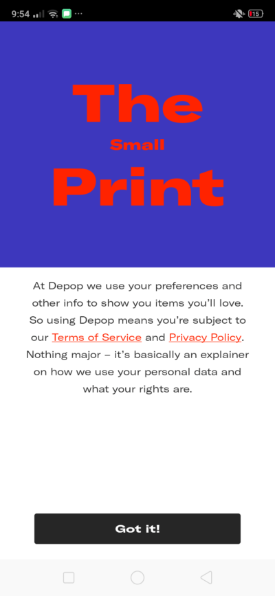 Ask Permission on Android by Depop from UIGarage