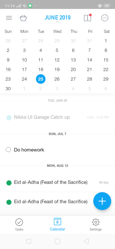 Calendar on Android by Any.Do from UIGarage