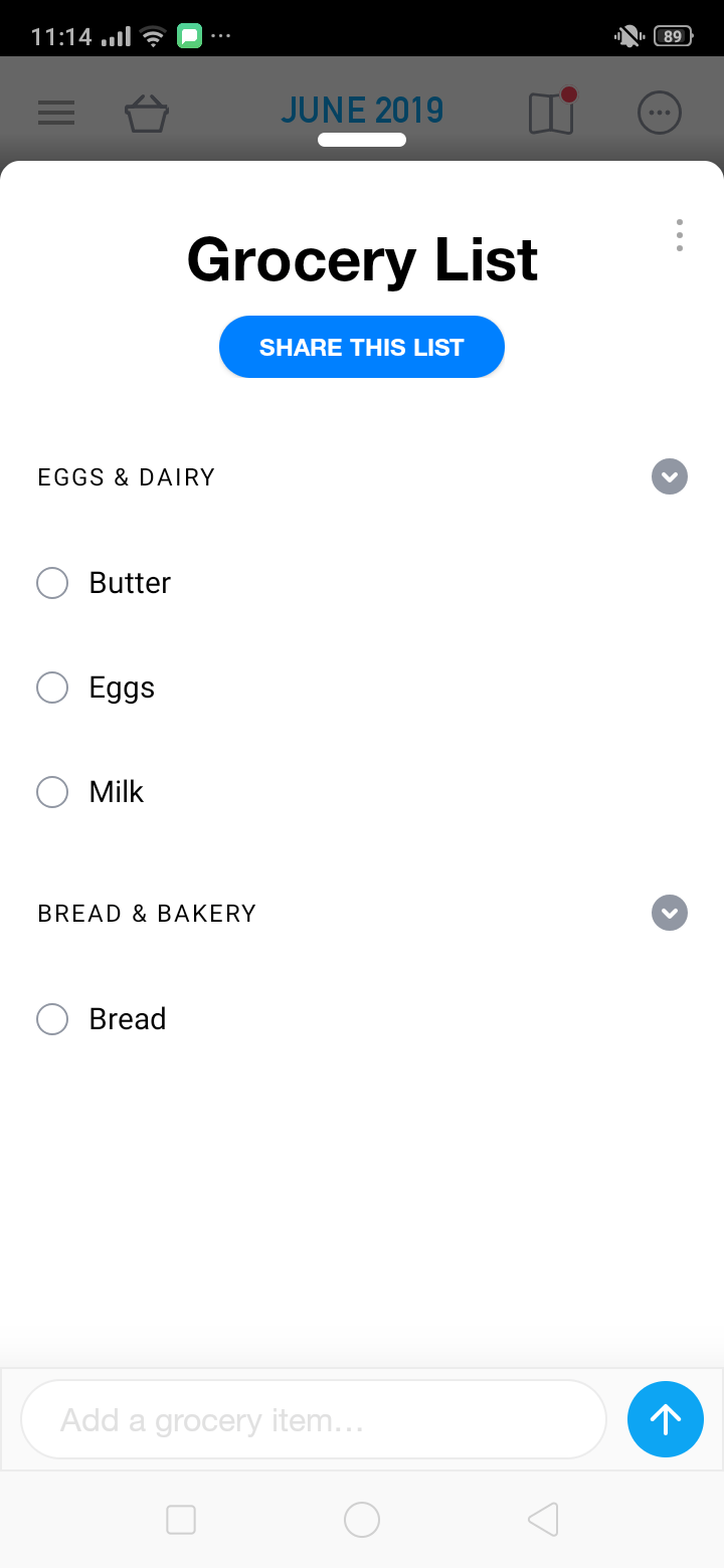 Grocery List  on Android by Any.Do