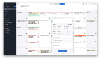 Create event on Spark Calendar on macOS from UIGarage