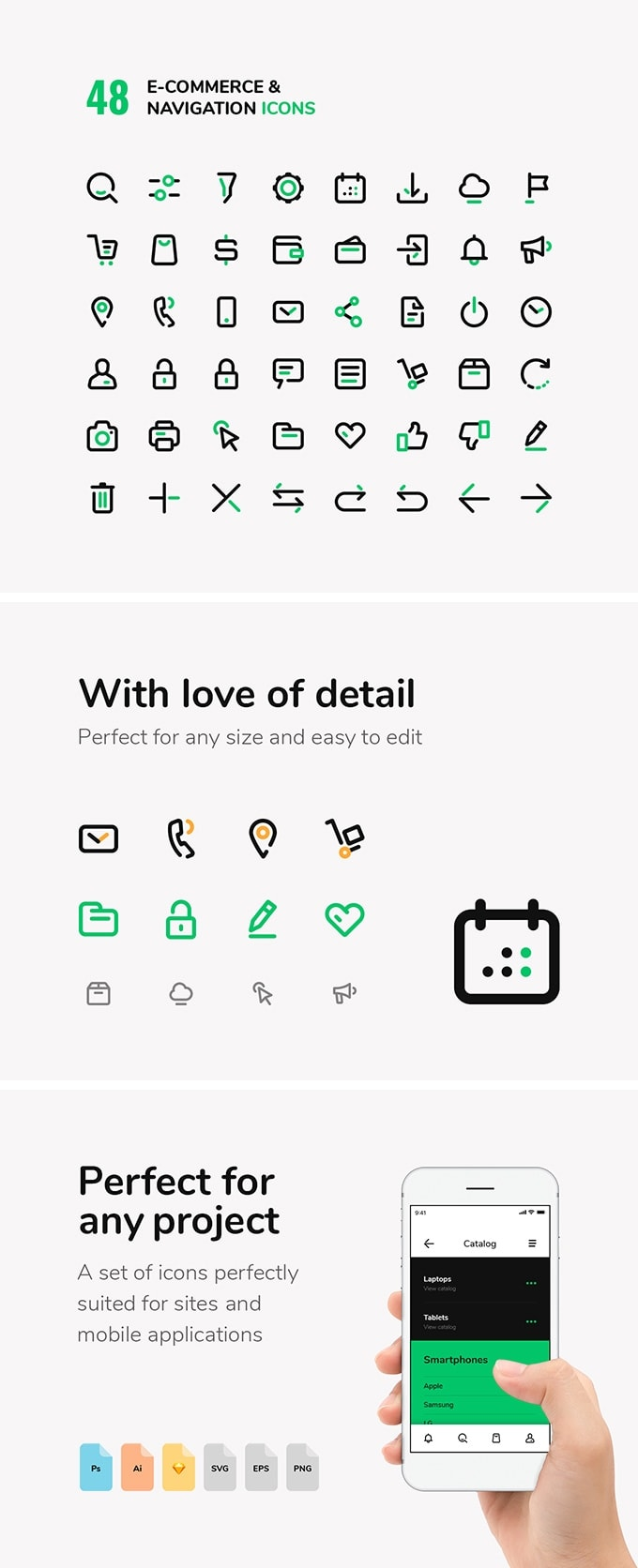 eCommerce & Navigation Icons Set from UIGarage