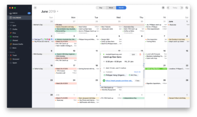 Event view in Calendar by Spark on macOS from UIGarage