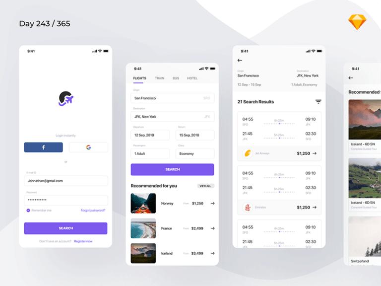 Flight Booking App from UIGarage