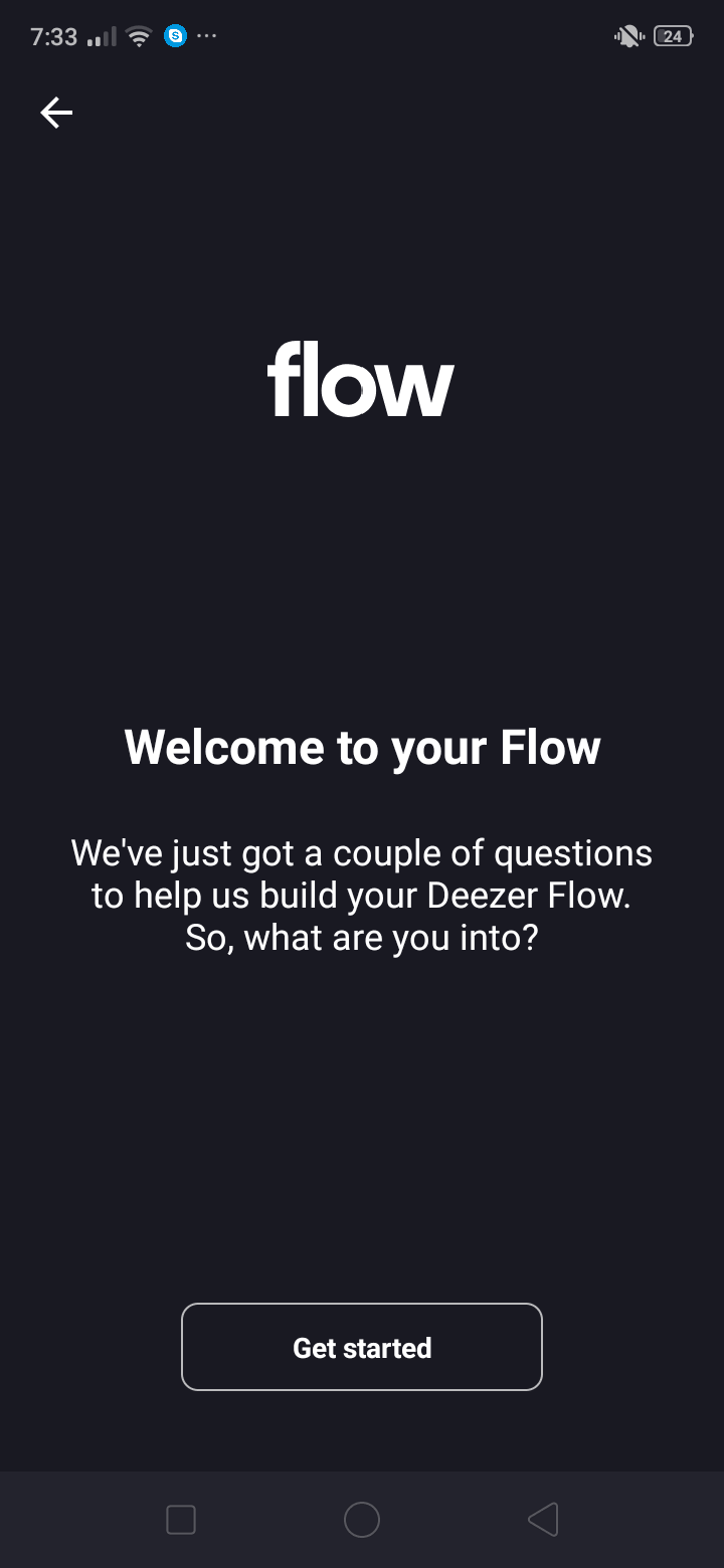 Flow Onboarding on Android by Deezer