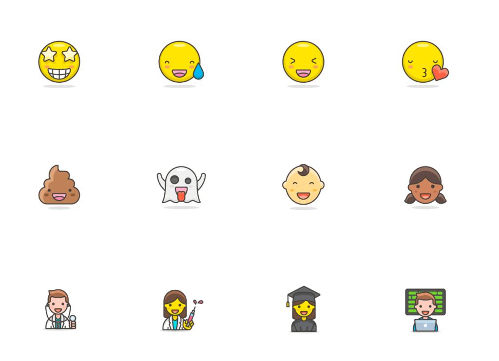 780+ Streamline Emoji from UIGarage