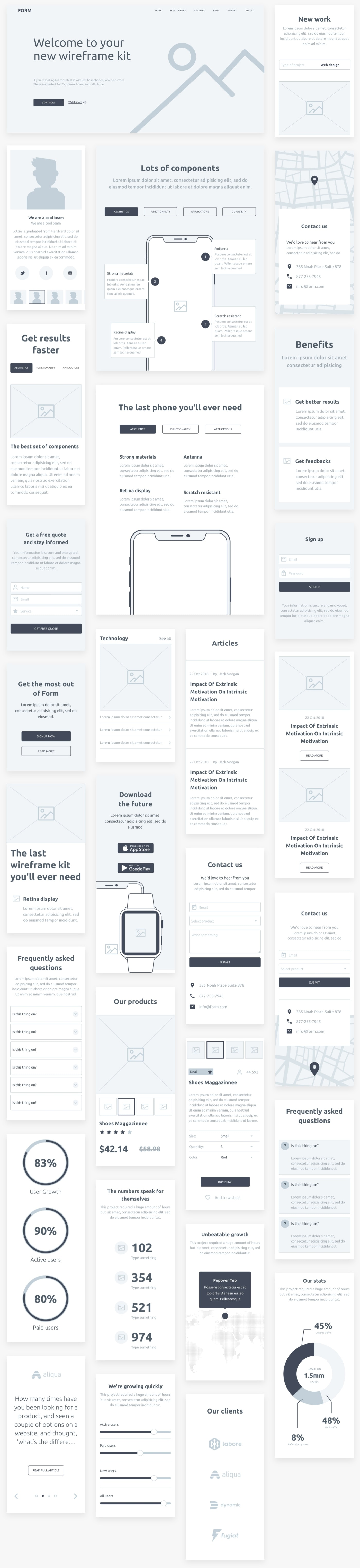 Form - Wireframe kit from InVision from UIGarage