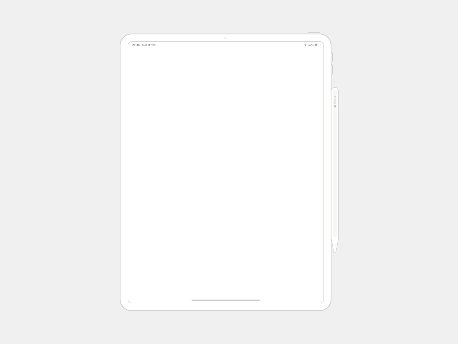 iPad Pro 12.9 Wireframe Mockup from UIGarage