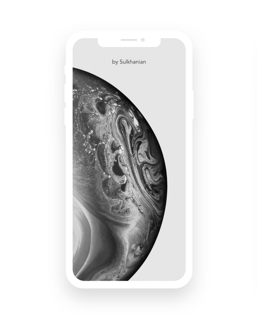 iPhone XS Super Flat Mockup from UIGarage