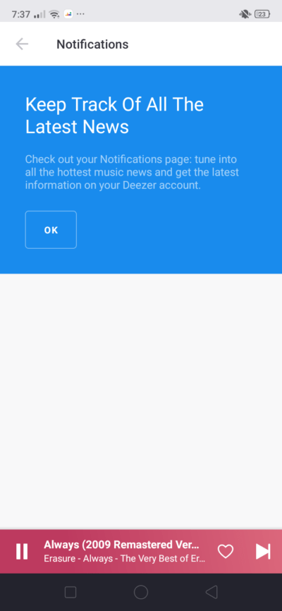 Notifications on Android by Deezer from UIGarage