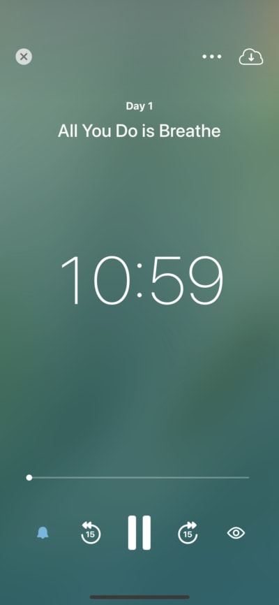 Music player by Insight Timer on iOS from UIGarage