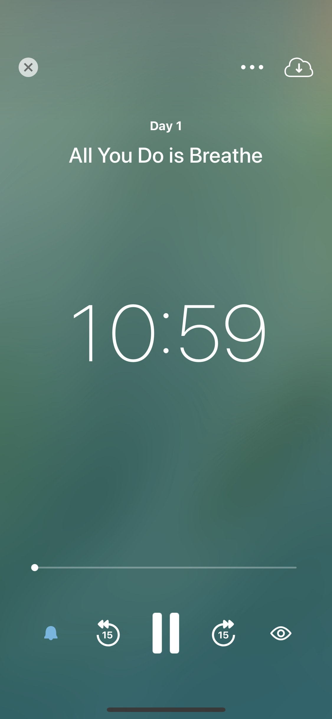 Music player by Insight Timer on iOS