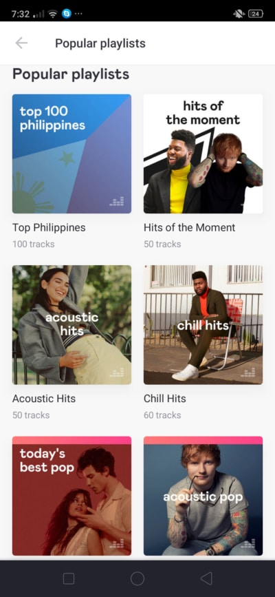 Popular Playlist on Android by Deezer from UIGarage