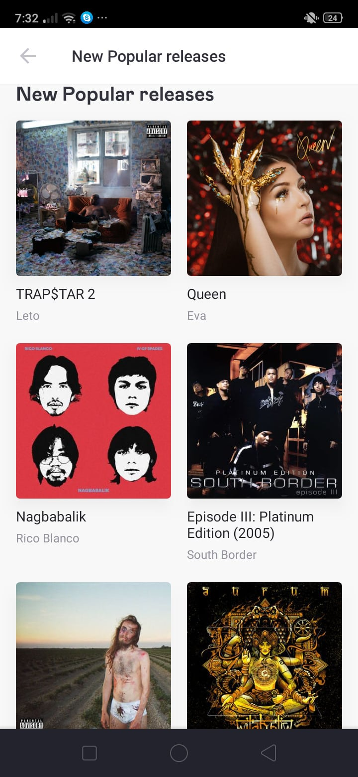 New Popular Releases on Android by Deezer from UIGarage