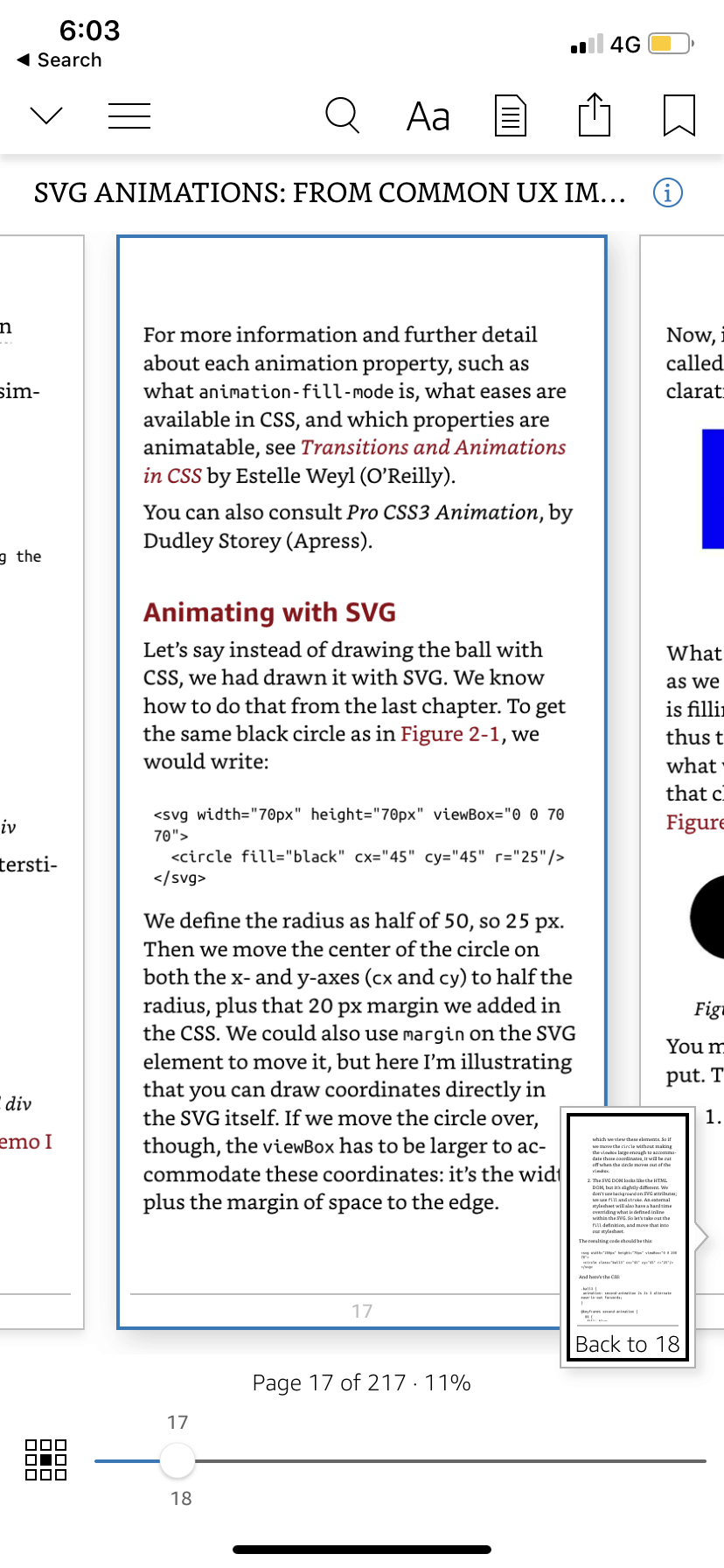 Preview content by Kindle on iOS from UIGarage