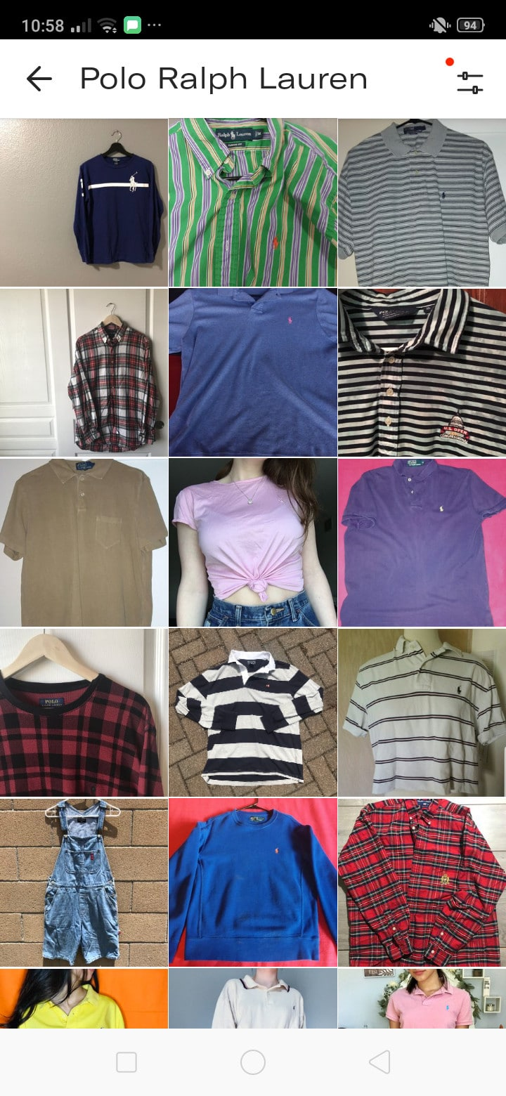 Search on Android by Depop