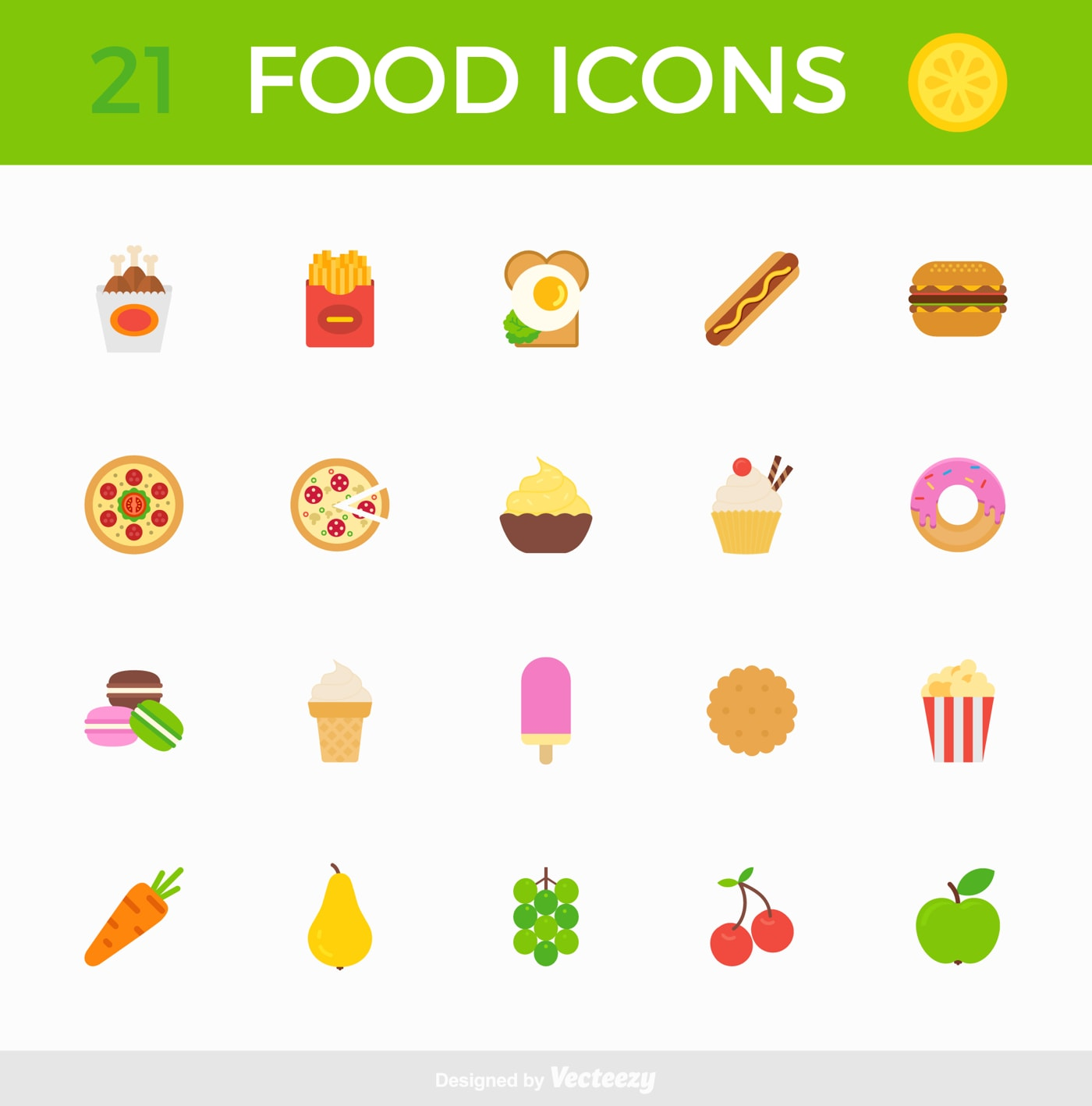 Tasty Food Free Icon Pack from UIGarage