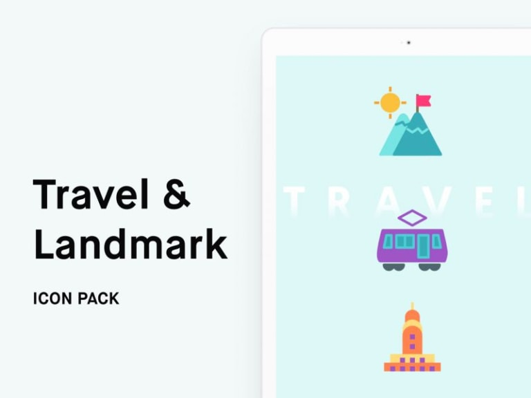 Travel Free Icon Pack from UIGarage