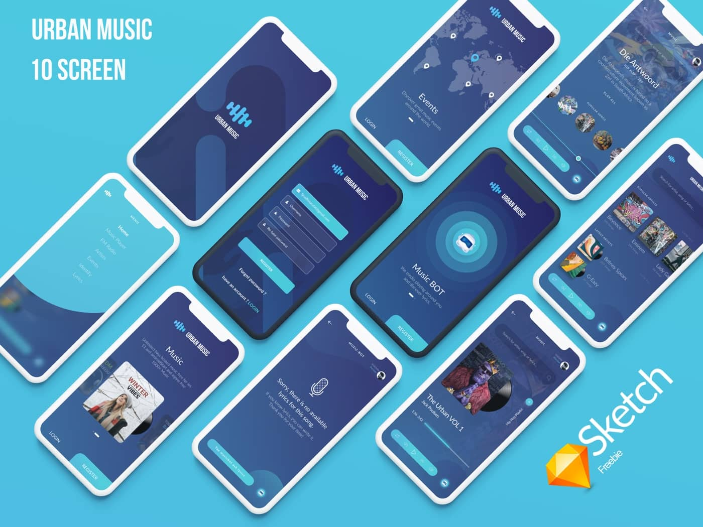 Urban Music UI Kit from UIGarage