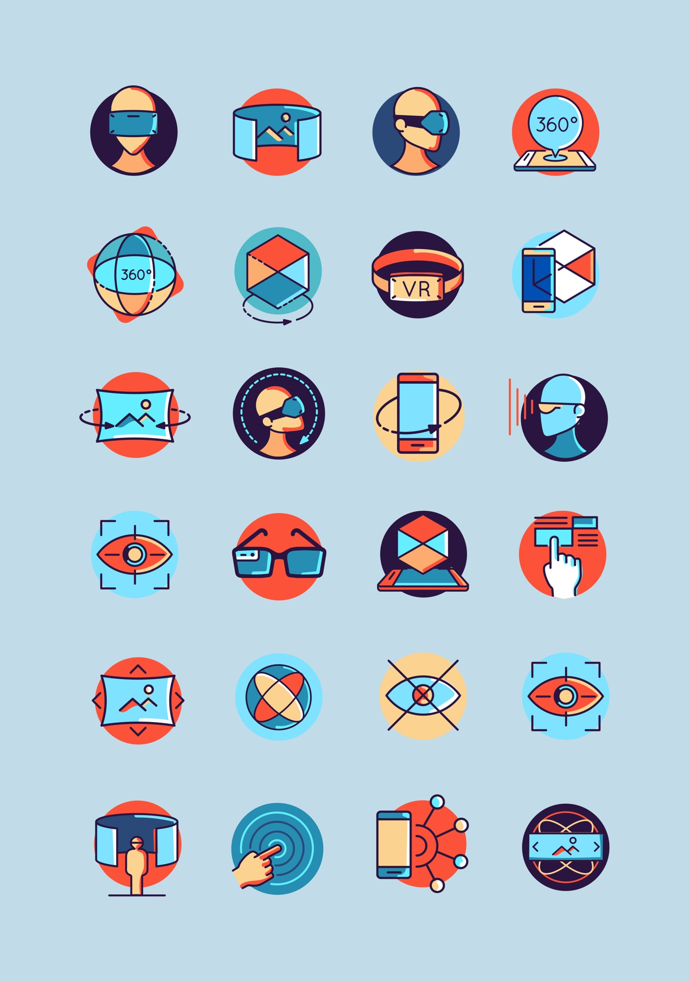 Virtual Reality Free Icon Pack from UIGarage
