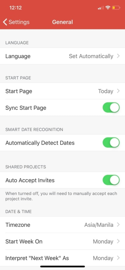 General on iOS by Todoist from UIGarage