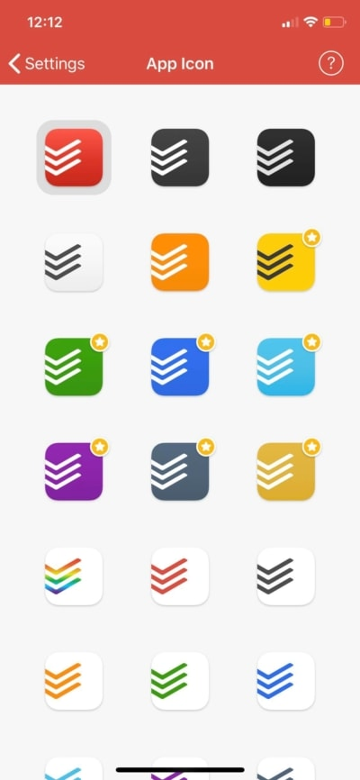App Icon on iOS by Todoist from UIGarage
