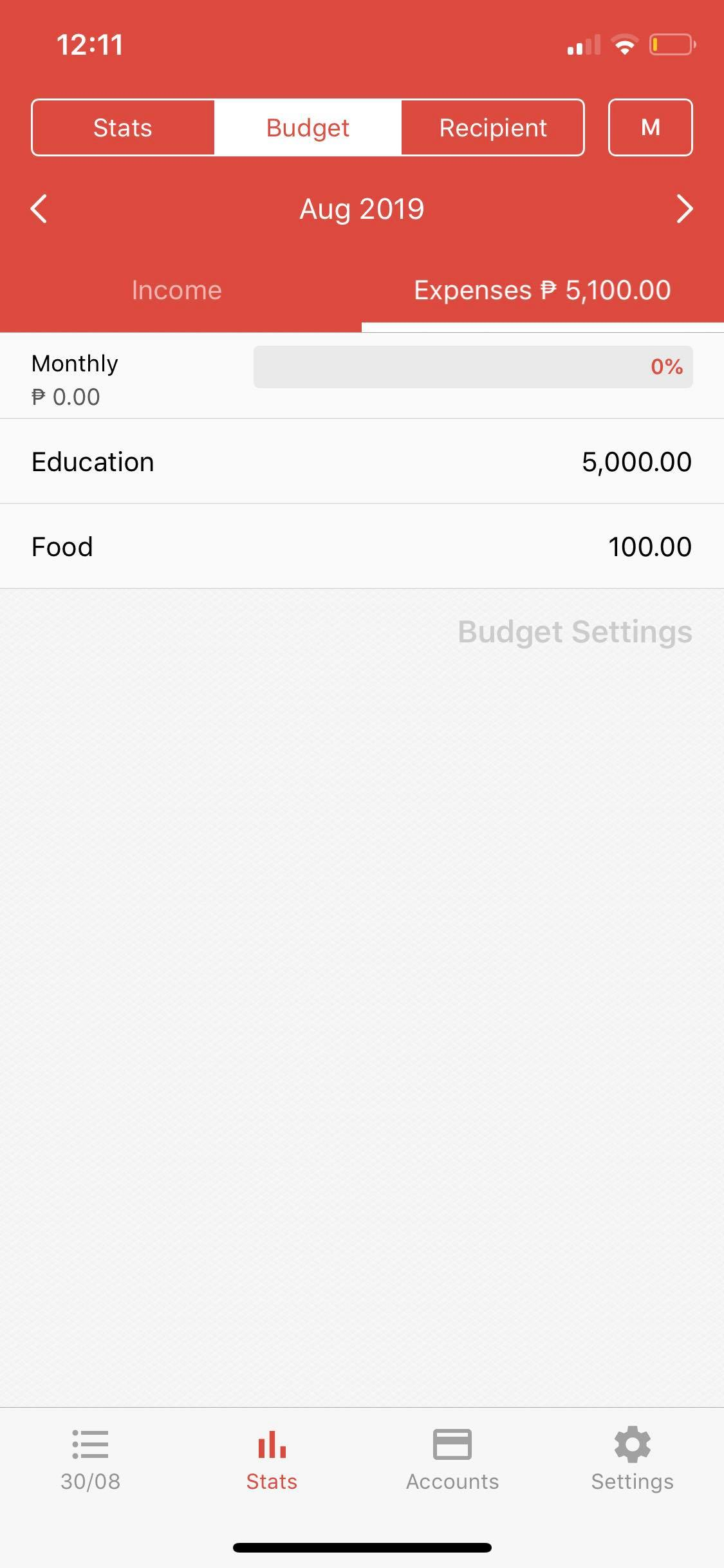 Budget on iOS by Money Manager from UIGarage
