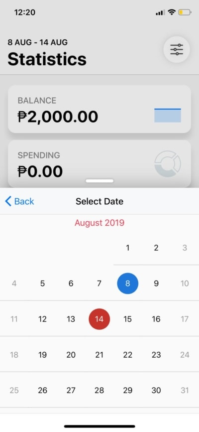 Calendar on iOS by Wallet from UIGarage
