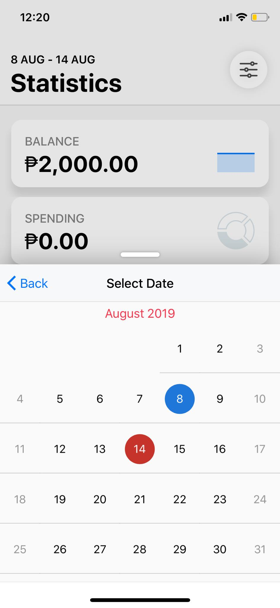 Calendar on iOS by Wallet