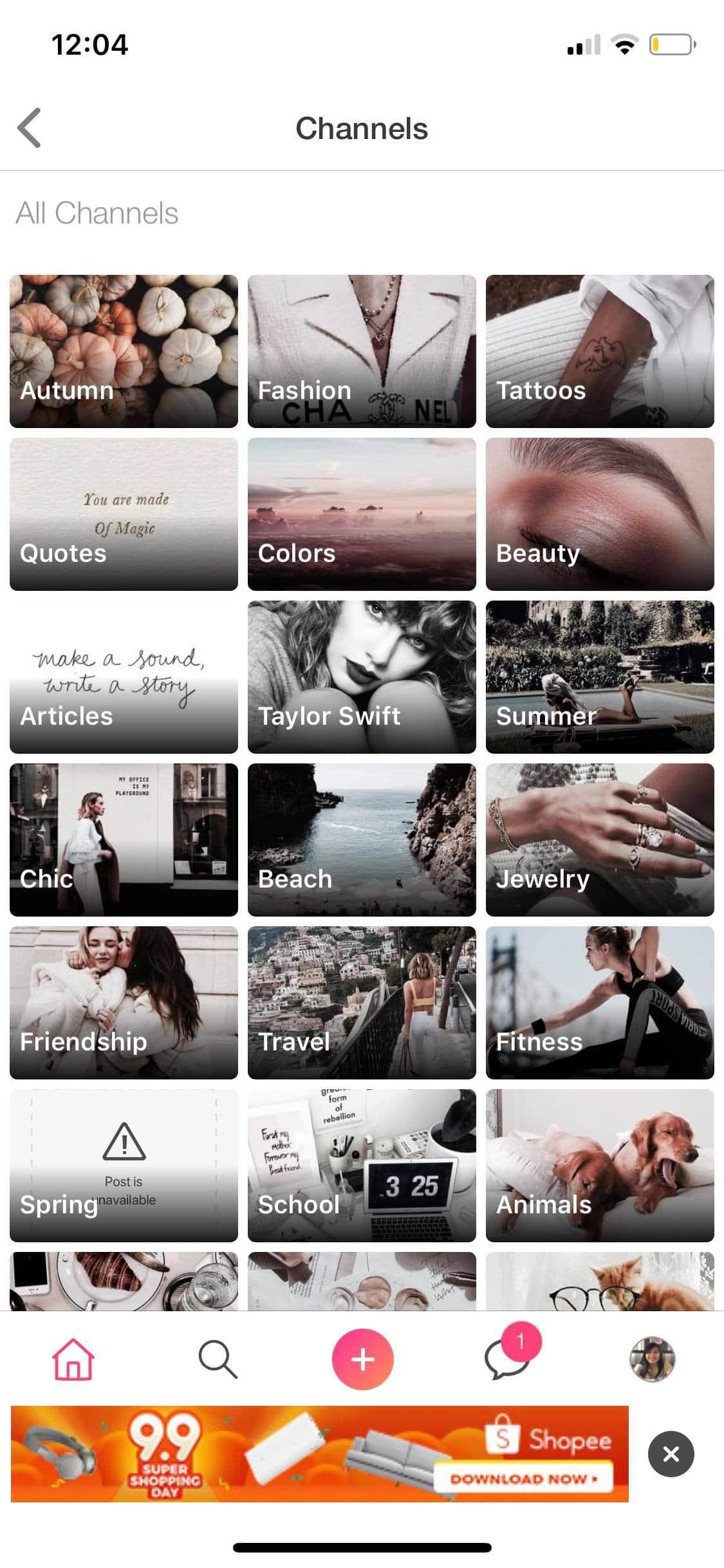 Channels on iOS by We Heart It