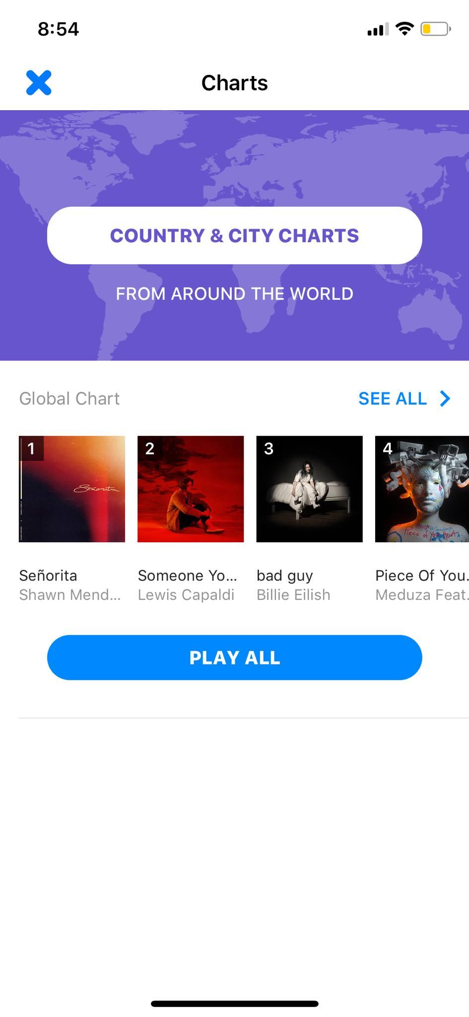 Charts on iOS by Shazam