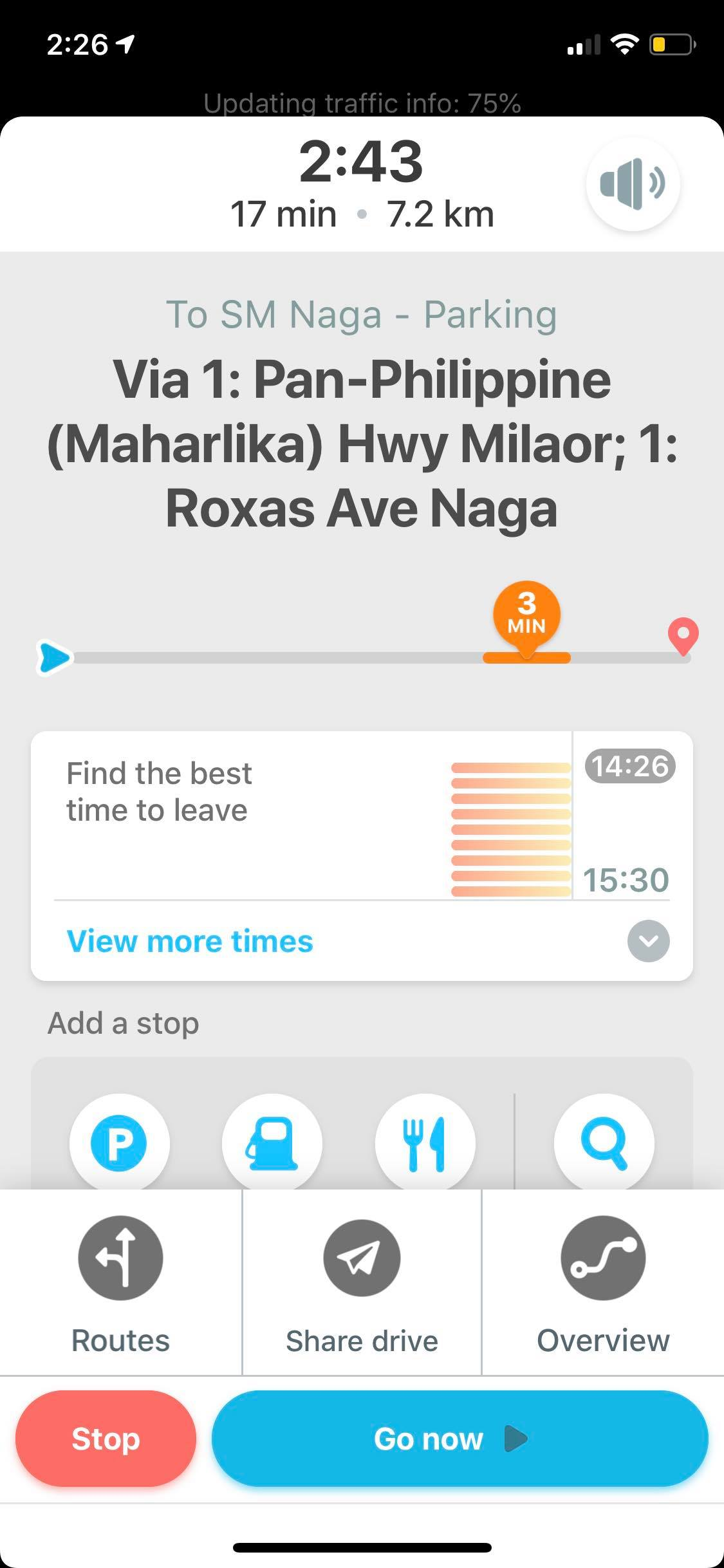 Content Screen on iOS by Waze from UIGarage