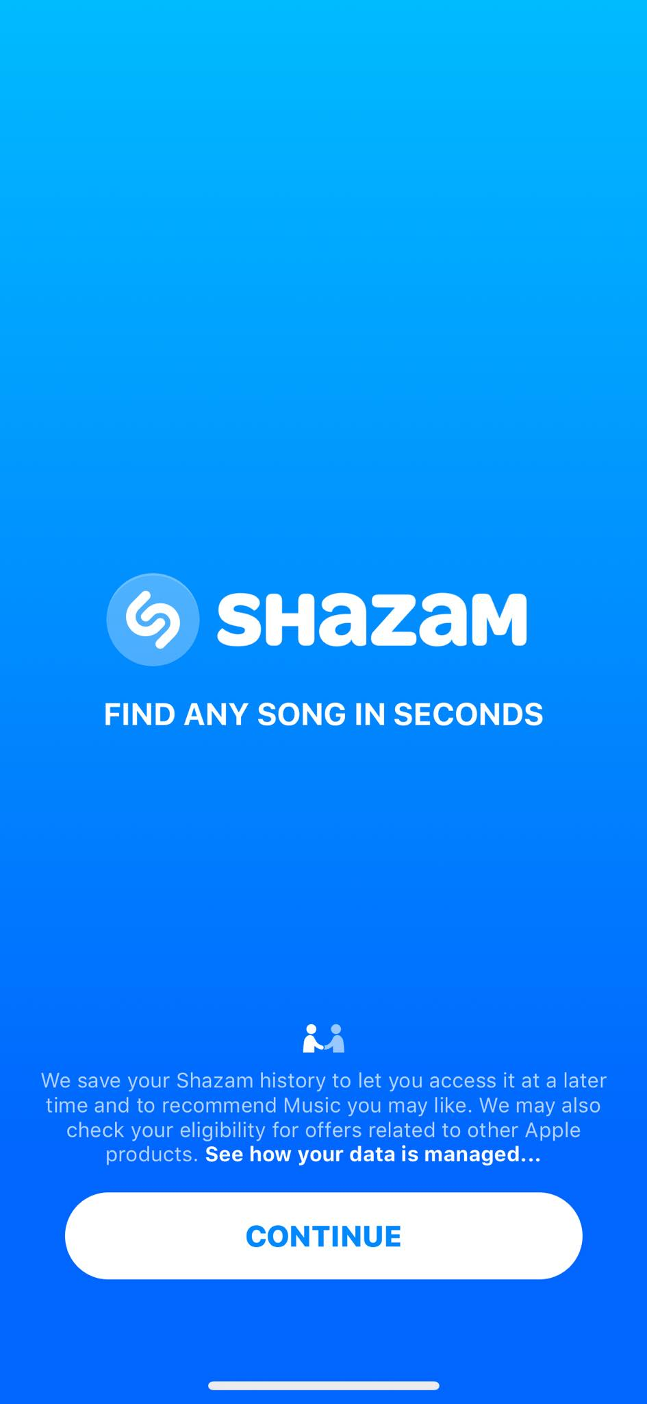 Walkthrough on iOS by Shazam